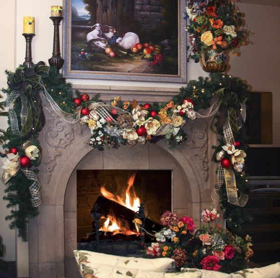 Country Christmas Mantels: Www.leannemichael.com French Country Is The Theme For This