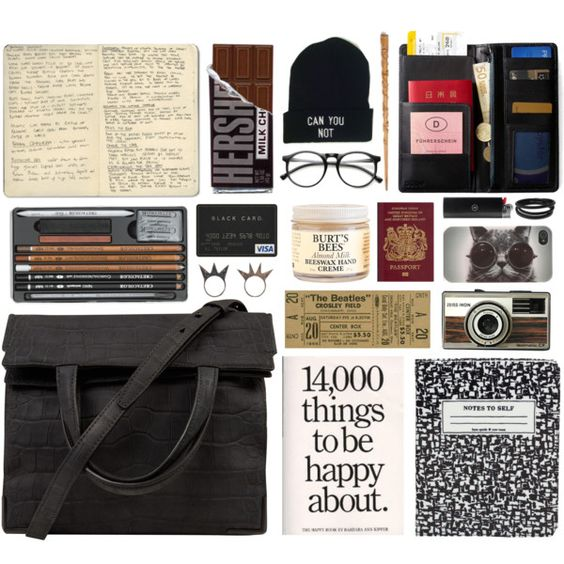 she's got tickets to her own show, but nobody wants to go by wldhearts on Polyvore featuring Alexander Wang, NLY Accessories, Swarovski, With Love From CA, Burt's Bees, Kate Spade, IDEA International and Moleskine