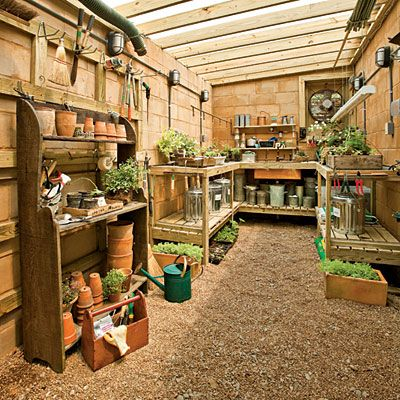 Garden sheds sheds and how to organize on pinterest for Garden shed organization ideas