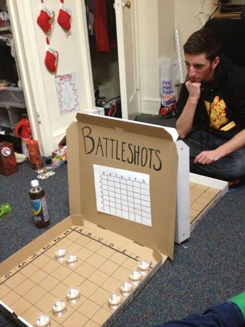 Battleshots! YES! Just with chocolate milk :)
