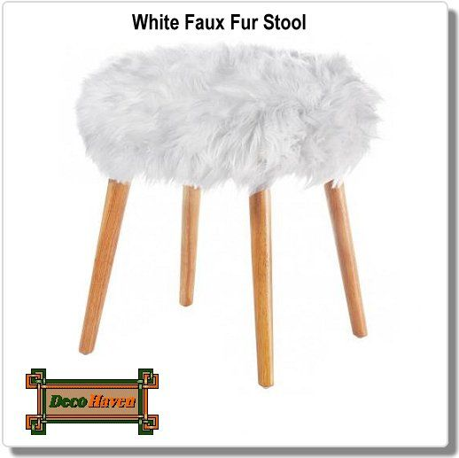 White Faux Fur Stool Faux Fur Stool Stool Leather Chaise