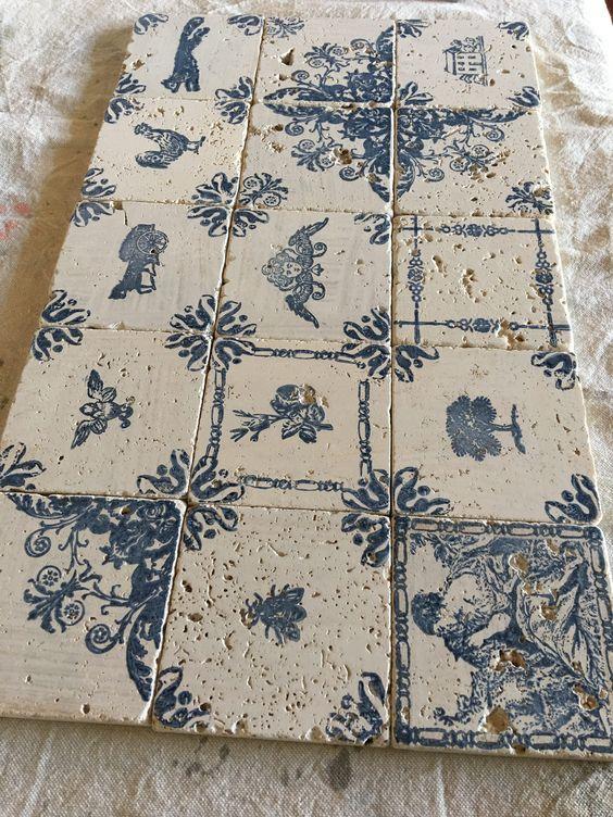 DIY backsplash French tile