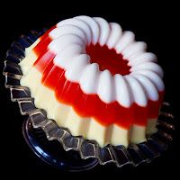 Candy Corn Jelly Shot Mold (alcoholic version - vodka, sweetened condensed milk, flavored gelatin)