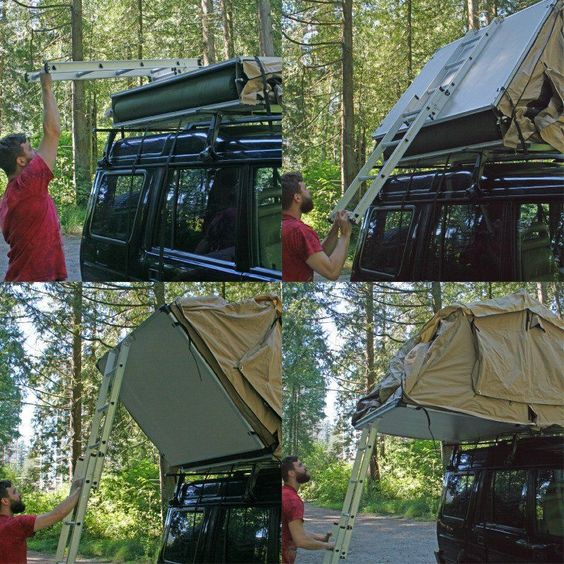 Unfoldable Car-Roof Tents - The Roof-Top Tent Can Fit on Any Vehicle Roof Type (GALLERY)