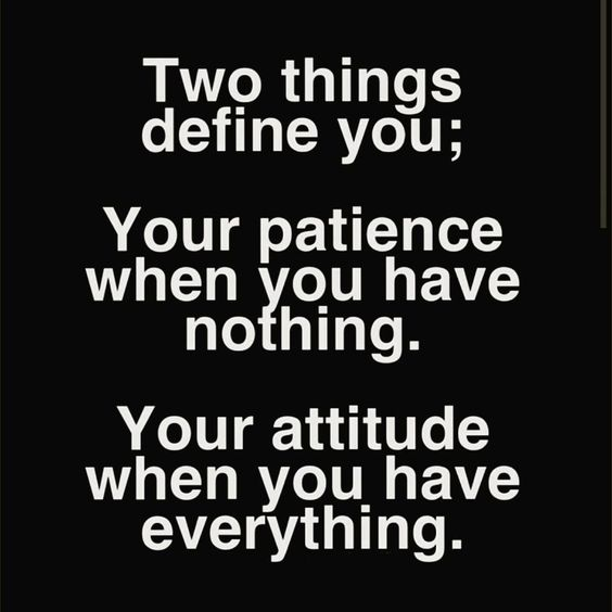 """""""Be patient. Sometimes the hardest thing to see is the future greatness that awaits you.  Be kind. Your attitude towards others defines your character. You…"""""""