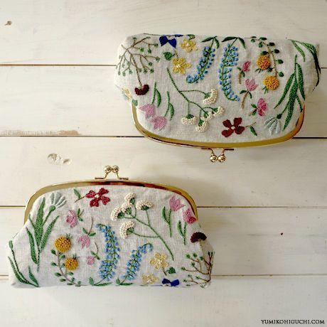 Beautiful floral stitching.