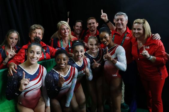 2016 Rio Olympic Games Women's Team Final-- Team USA and their outstanding coaches <3
