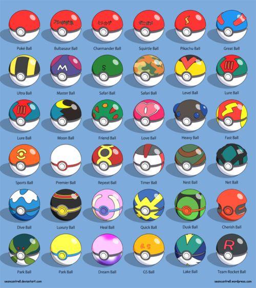 Various Pokeballs