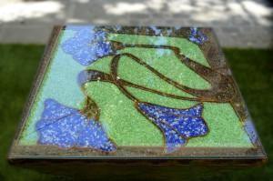 Un toque distinto: Mesas decoradas con cristales molidos