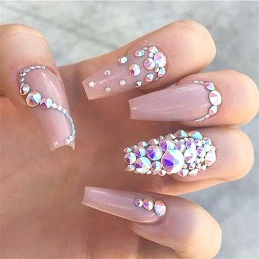 Rhinestone Coffin Nail Designs Google Search Acrylicnaildesigns Rhinestone Nails Coffin Nails Designs Bling Nails