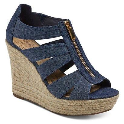 Good alternatve to the stiletto: Women's Meredith Espadrille Sandals Wide Width - Merona™ - DENIM BLUE