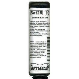pile Bat28 compatible BatLi28 DAITEM ALARME