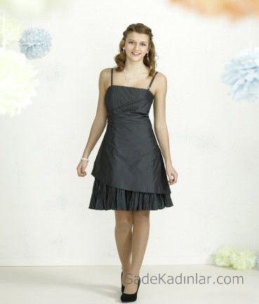 14 Yas Abiye Elbise Siyah Kisa Ip Askili Pileli Katli Etek Siyah Kisa Elbise Elbise The Dress