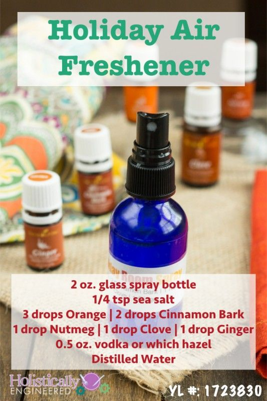 Holiday room spray recipe sprays young living - Living room air fresheners ...