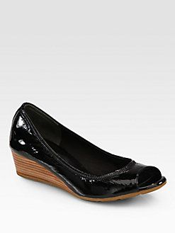Cole Haan - Air Tali Patent Leather Wedge Pumps