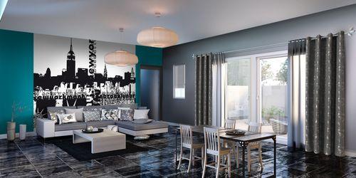mur salon bleu mum 39 s salon pinterest salons. Black Bedroom Furniture Sets. Home Design Ideas