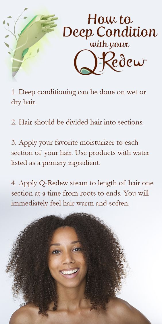 How to deep condition hair