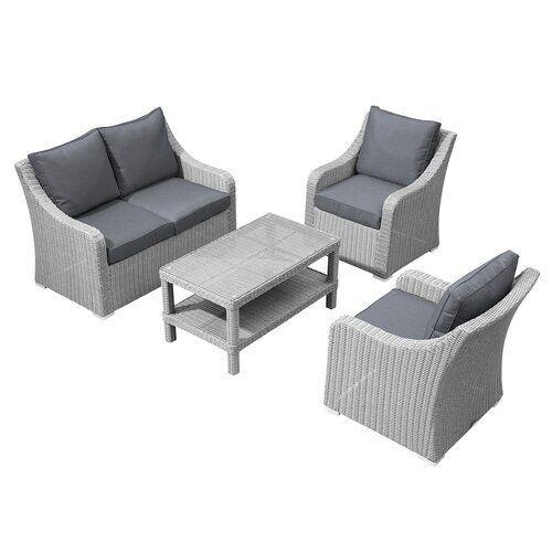 Griffithville Garden Sofa With Cushions Sol 72 Outdoor Colour White Wash Garden Sofa Sofa Design Corner Sofa With Cushions