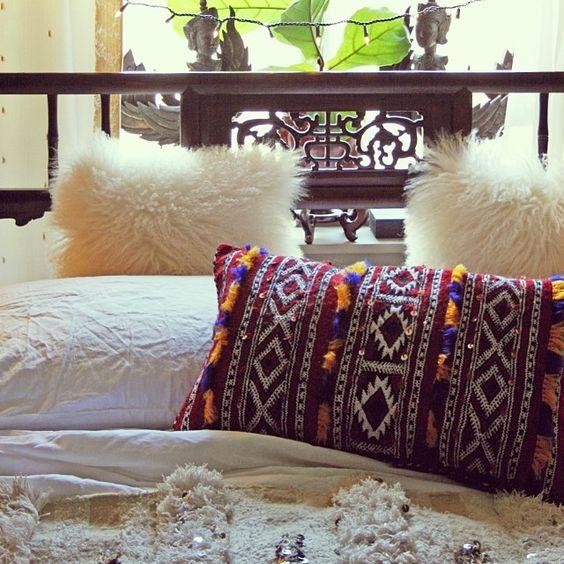 5 Bohemian Home Decor Ideas Rustic Folk Weddings: Bohemian Bedroom, Moroccan Pillow