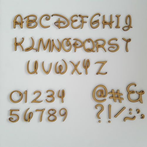 DISNEY FONT WOODEN MDF LETTERS /& NUMBERS IN VARIOUS SIZES TO CHOSE FROM