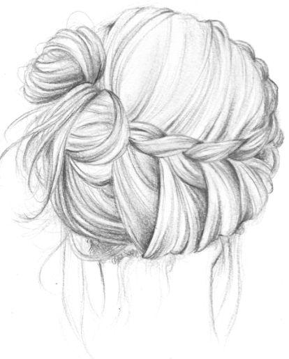 Dessin chignon coiffure pinterest coiffures tresses et couronnes - Comment dessiner une tresse ...