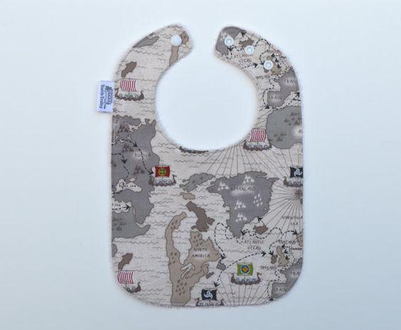 Organic bib/ Viking baby / Organic cotton / fits by TextileTrolley, $12.00