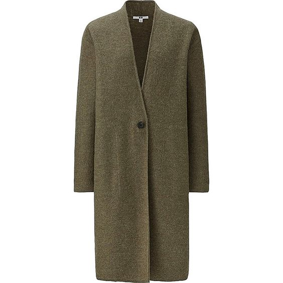 Women felted wool long coat | Coats Products and Uniqlo