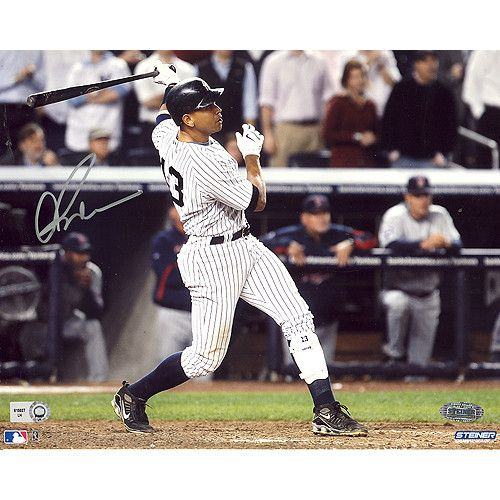 Alex Rodriguez ALDS Game 2 Two Run HR vs Twins Horizontal 8X10 Photo (MLB Auth)