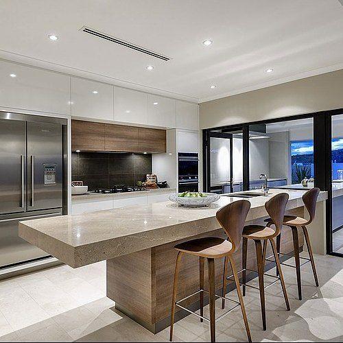 Interior de cozinha interiores and cozinhas on pinterest for Interior cocinas modernas