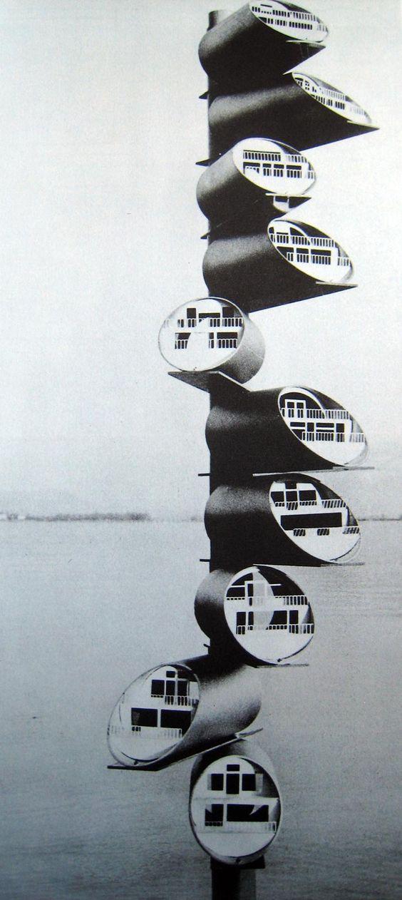 Guy Dessauges, modular apartments, 1960.
