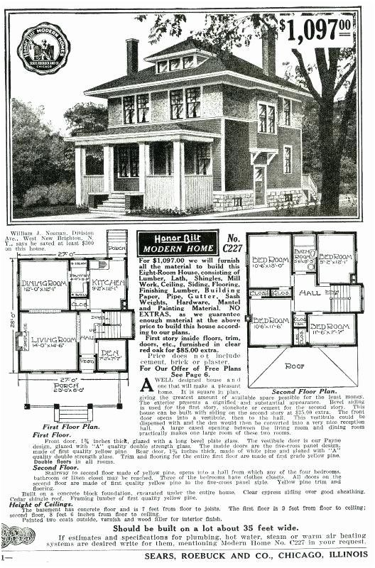 Sears Roebuck House Plans Craftsman House Plans Basement House Plans Square House Plans
