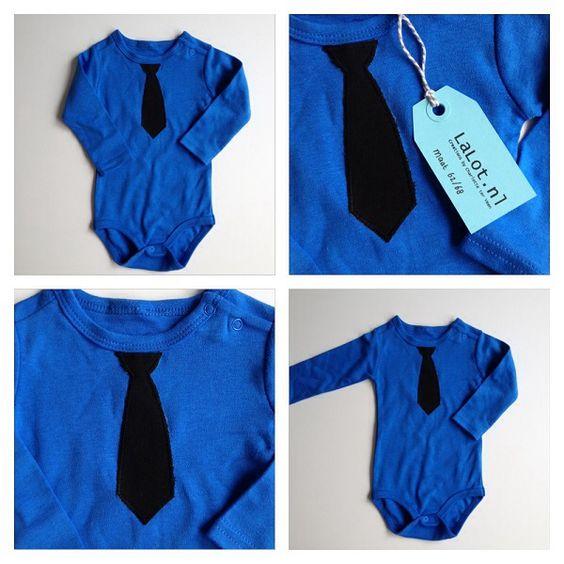 Rompertje blauw stropdas