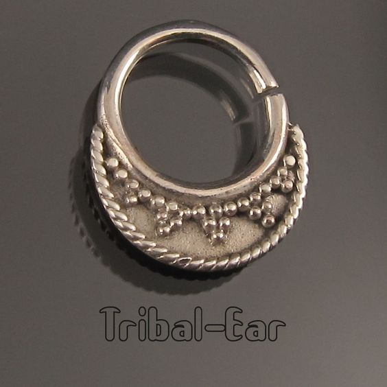 septum nose ring piercing sterling silver anneau nasal fashion Tribal Ear 020