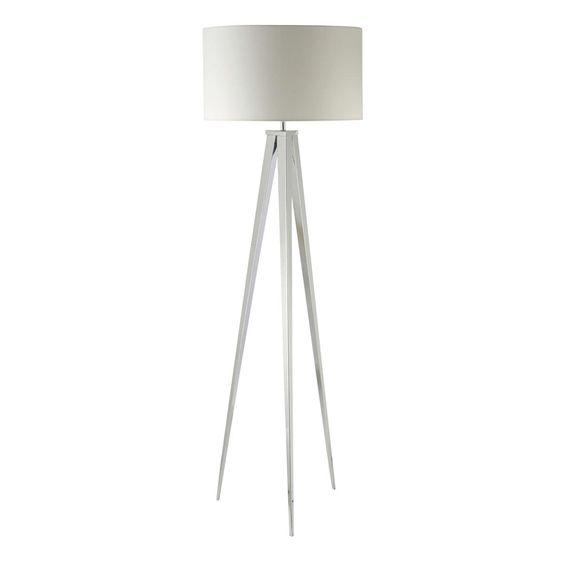 149 hauteur 155 lampadaire otto blanc chez maisons du - Lampadaire maisons du monde ...