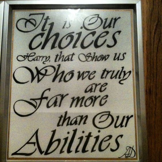 Harry Potter Calligraphy Quote Dumbledore Handmade Gift
