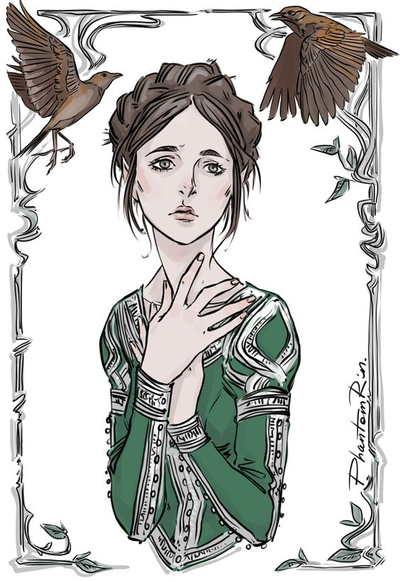 "By PhantomRin// Lark (""The Bird and The Sword"" by Amy Harmon) Gosh, I really like this girl!"