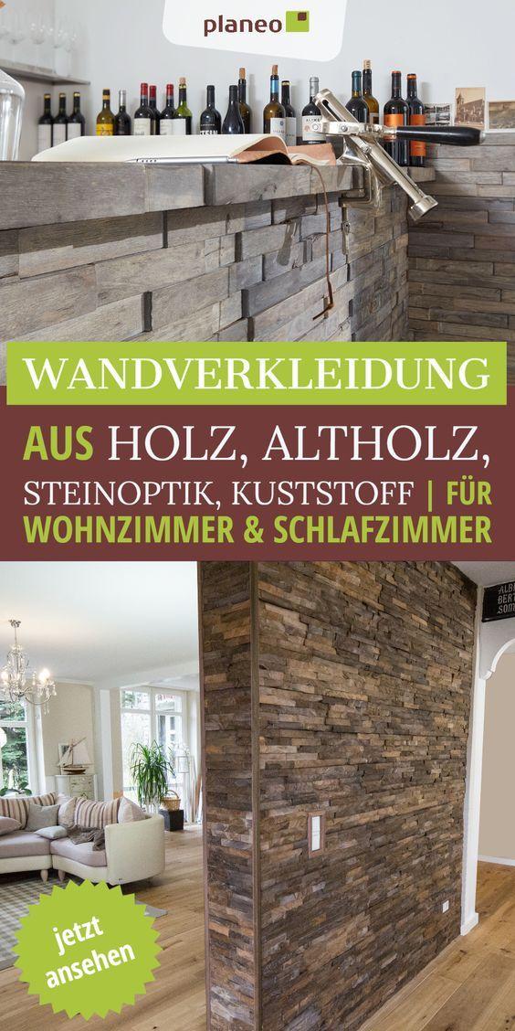 Wandverkleidung Wandgestaltung Aus Holz Altholz Kunststoff Fur Wohnzimmer Schlafzimmer U V M In 2020 Wandverkleidung Wandpaneele Moderne Wandverkleidung