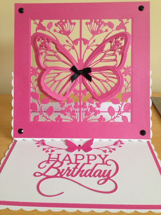 Card using create and craft couture Mariposa: