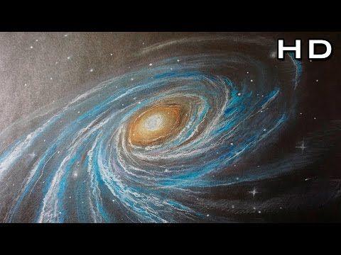 Como Dibujar Una Galaxia Y Estrellas Paso A Paso Con Lapices Pastel Youtube Acuarela De Galaxia Galaxia Dibujo Galaxia
