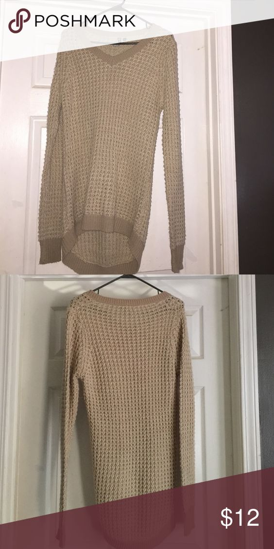 Cream Poof Sweater Only worn a couple of times. Like new. Rue 21 Sweaters Crew & Scoop Necks