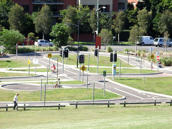 Bike Track Pedestrian Crossing Sydney And Pedestrian