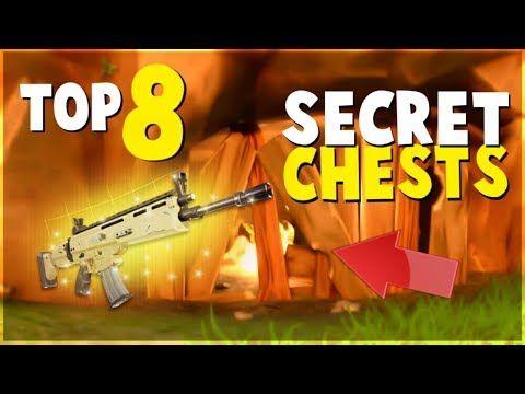 Top 8 Hidden Secret Chests And Locations Fortnite Battle