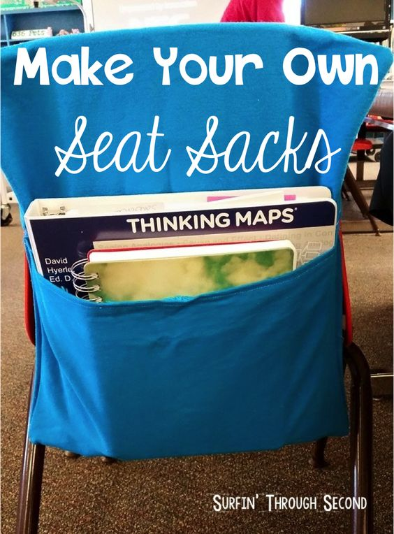 Easy and Affordable Seat Sacks-Great way to make extra storage in your classroom!