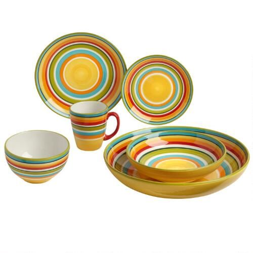 One of my favorite discoveries at ChristmasTreeShops.com: Tessa Orange Striped Earthenware Dinnerware