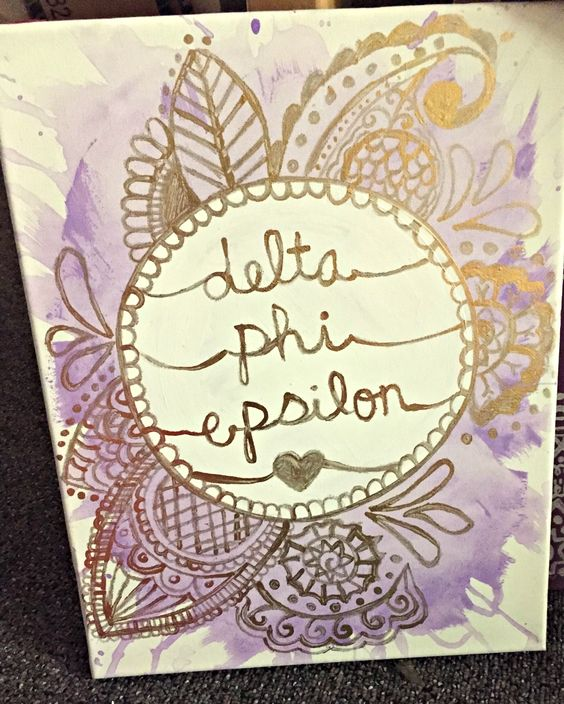 delta phi epsilon splatter canvas