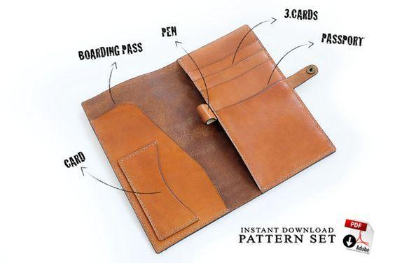 PATTERN instant download in PDF format digital leathercraft pattern Tablet Sleeve leather pattern