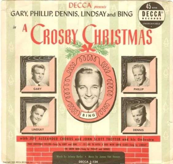 45cat - Gary, Phillip, Dennis, Lindsay And Bing Crosby - A Crosby