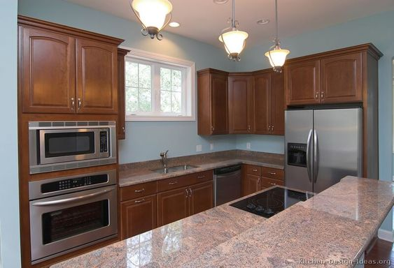 Pink Granite - From light pink granite to darker mauve and lavender granites, these colors can add a beautiful and romantic atmosphere to your kitchen