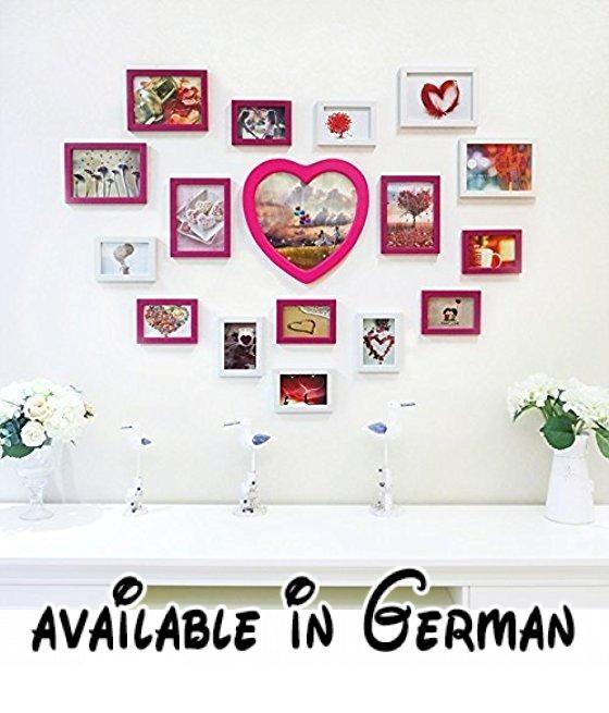 YMXLQQ Massivholz 17 Box Warm Kombination Fotorahmen Collage Wand - bar fürs wohnzimmer
