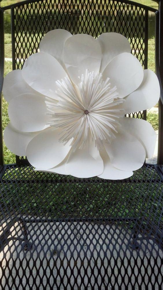 Paper flowers diy pinterest wedding